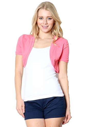 Fashion Secrets Juniors Cotton Bolero Shrug Cropped Cardigan