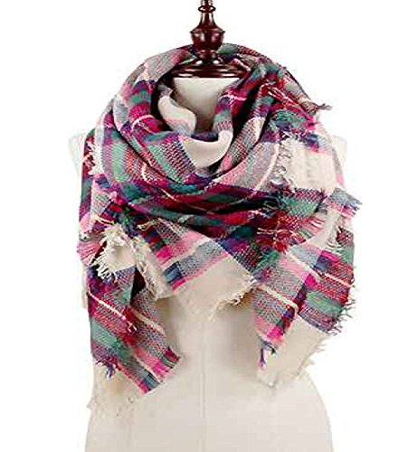 Fashion Secrets Scottish Plaid Tartan Cashmere Feel Oversized Scraf Wrap Shawl .