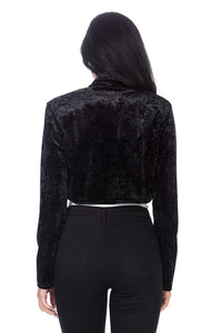 Fashion Secrets Women`s Front Knot Tie Velvet Bolero Shrug Cardigan Jacket, Pus Sizes