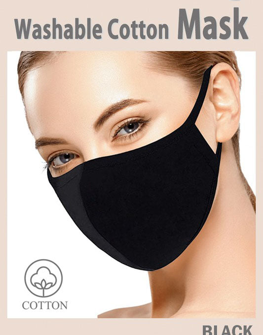 3 Pcs Fashion Face Cover Mouth Mask Unisex Washable and Reusable Cotton