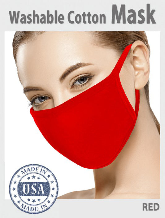 3 Pcs COTTON Face Mouth Cover MASK MADE IN USA