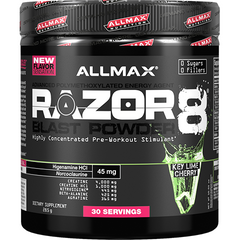 Allmax Nutrition Razor8 Blast Powder 30 Serves Key Lime Cherry
