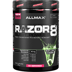 Allmax Nutrition Razor8 Blast Powder 60 Serves Key Lime Cherry