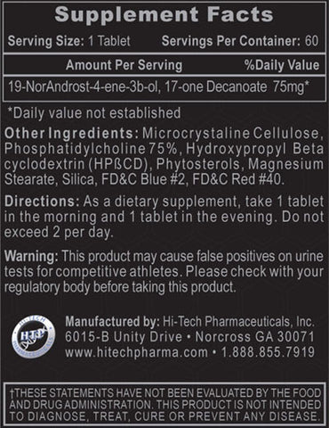 Hi-Tech Pharmaceuticals Decabolin 60 Tabs