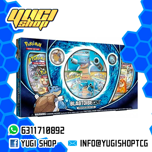 Blastoise GX Premium Collection | Pokemon TCG | Yugi Shop TCG | Mexico