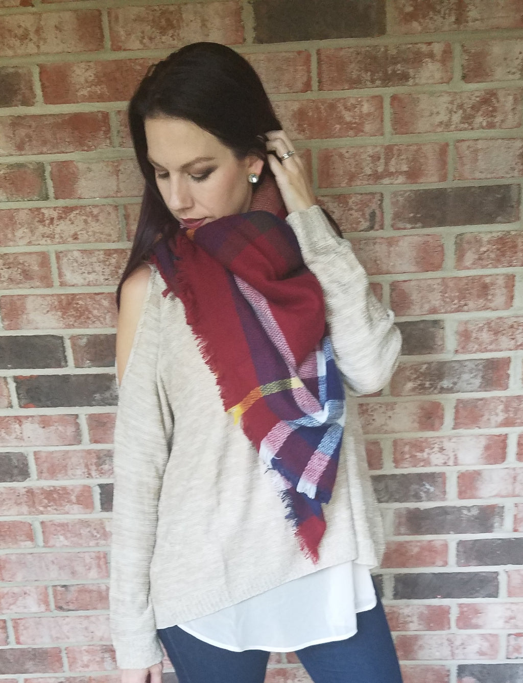Blanket Scarf - Primary