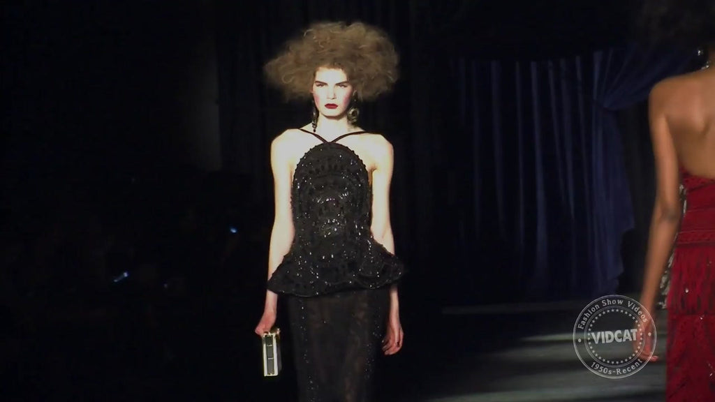Big Hair And Glam Gowns On the Naeem Khan Catwalk