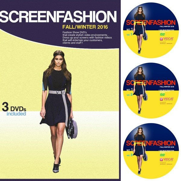 Fall Winter 2016 Fashion Show DVDs: 3 DVDs Set