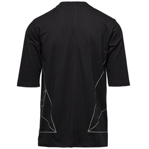 DYNE TRIANGLE CUT & SEW 3/4 SLEEVE TOP