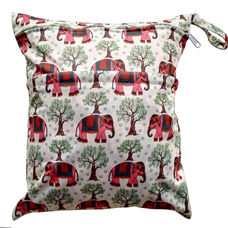 Waterproof Wet Bag - Red Elephants
