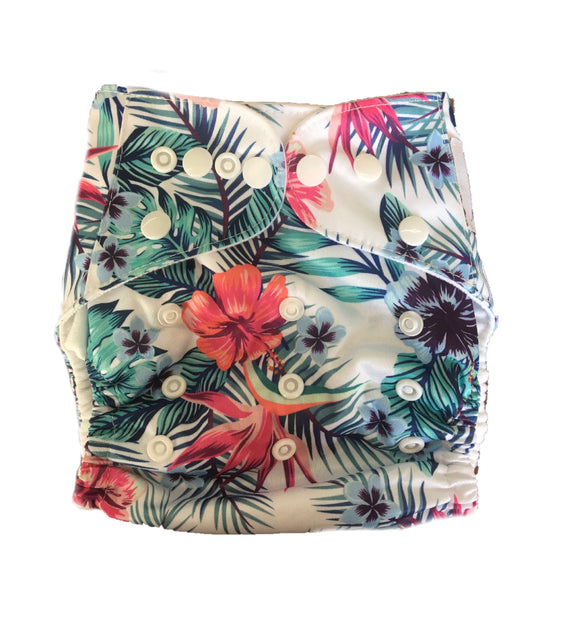 Modern Cloth Nappy - Hibiscus
