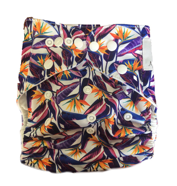 Modern Cloth Nappy - Strelitzia