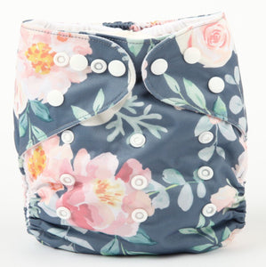 Modern Cloth Nappy - Roses