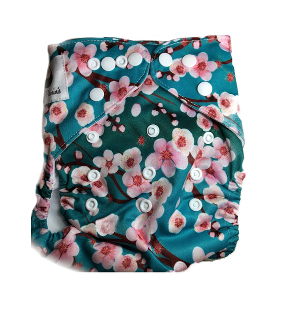 Modern Cloth Nappy - Cherry Blossom