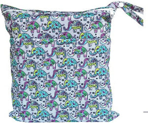 Waterproof Wet Bag - Boho Elephants