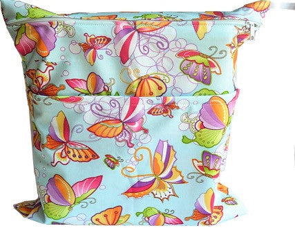 Waterproof Wet Bag - Fairy Butterflies