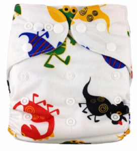 Modern Cloth Nappy - Critters