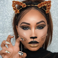 halloween themes idea with solotica lens skulls beauty looks hirocor colors meow cat thefashionfreakk