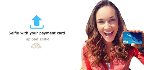 UPLOAD YOUR PHOTO PROVING OWNERSHIP OF YOUR CARD SELFIE WITH YOUR MASTER CARD CREDIT PAYMENT