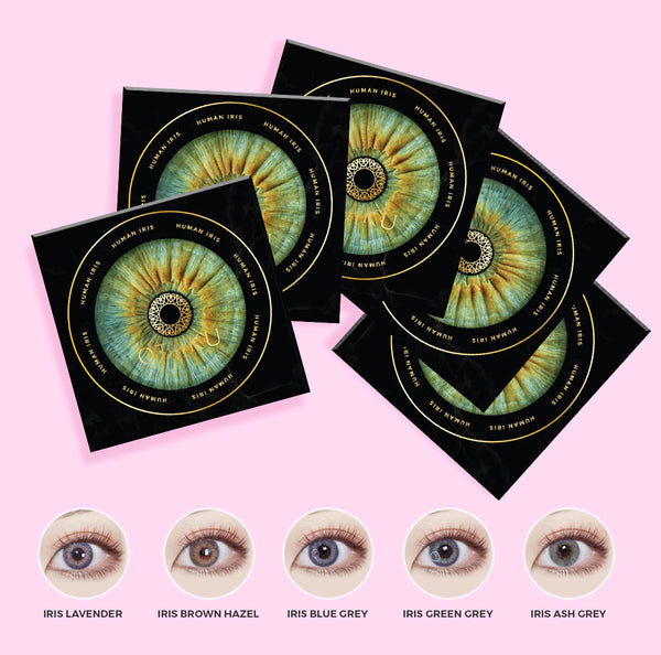HUMAN IRIS LENS BUNDLE | 5 OTAKU HUMAN IRIS LENSES + COSMETIC BAG