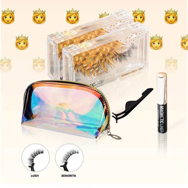 CUTE BUT SEXY BUNDLE | 2 MAGNETIC LASHES, 1 MAGNETIC LINER + COSMETIC BAG