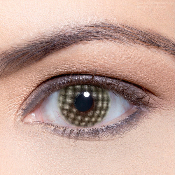 Solotica-color-contact-lenses-worldwide-australia-melbourne-sydney-online-buy-shop-hidrocor-mel-green-grey-lash-brows-side-how-it-looks-contact-lens-eyes-coloured