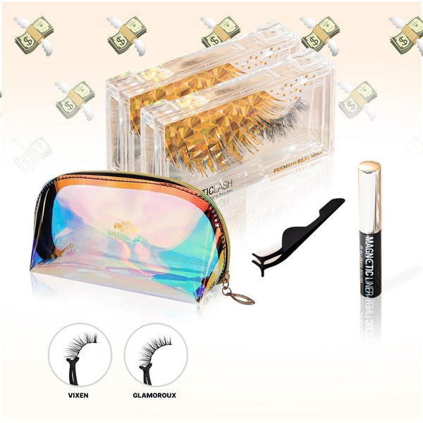 MAKE IT RAIN BUNDLE | 2 MAGNETIC LASHES, 1 MAGNETIC LINER + COSMETIC BAG