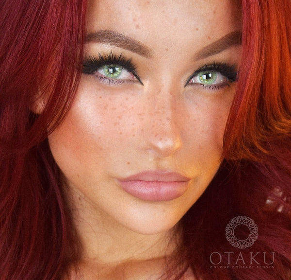 Most natural color contacts lenses new Otaku Gold Glitter Edition