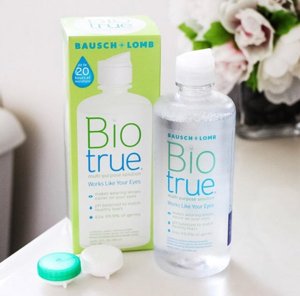 Bio True Multi-purpose Solution (Travel Pack) + contact case!