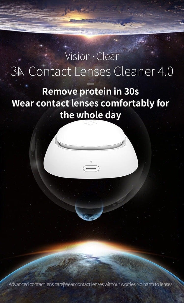 Contact Lenses Cleaner Machine (White & Pink)