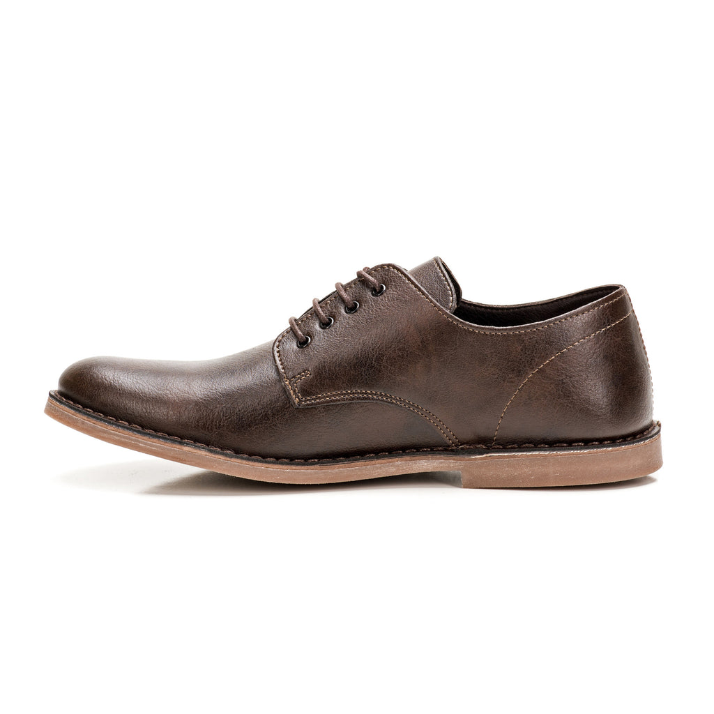 Sole & Stone - Brown Vegan Oxfords Vegan Shoes - Side2