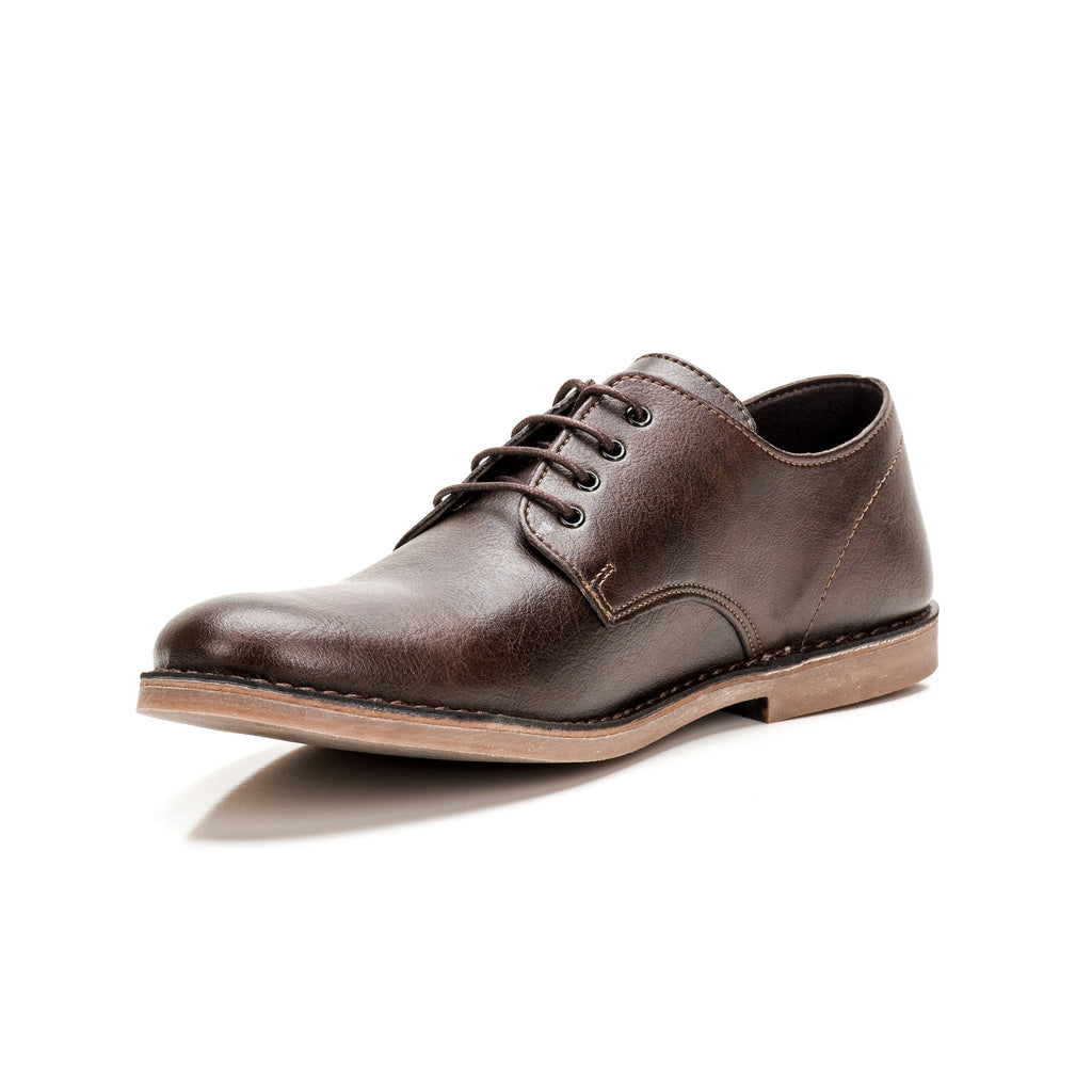 Sole & Stone - Brown Vegan Oxfords Vegan Shoes - Side4