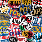 Atletico Madrid Spain Oval Vinyl Sticker - Pandemic Soccer