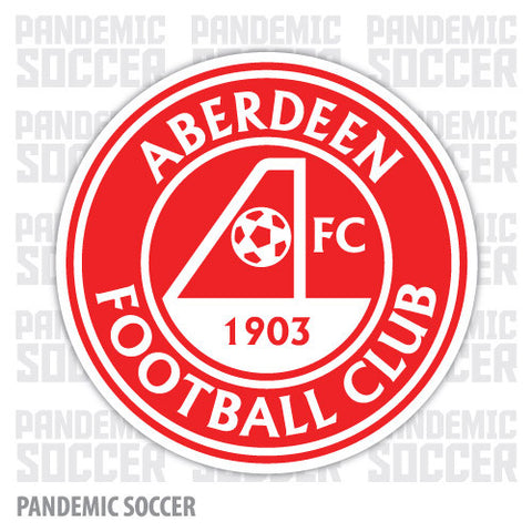 Aberdeen FC Scotland Vinyl Sticker Decal - Pandemic Soccer