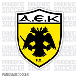 AEK Athens Greece Color Vinyl Sticker Decal - Pandemic Soccer