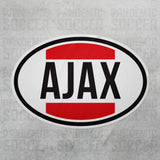 Ajax Amsterdam Netherlands Oval Vinyl Sticker - Pandemic Soccer
