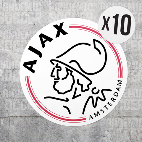 Ajax Amsterdam Netherlands Vinyl Sticker Decal Pack - 10 Stickers - Pandemic Soccer
