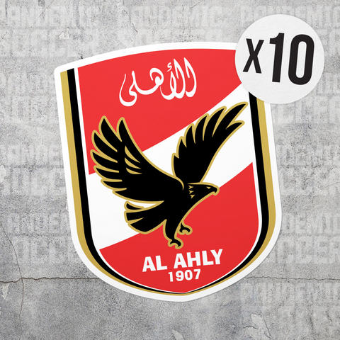 Al Ahly Egypt Vinyl Sticker Decal Pack - 10 Stickers - Pandemic Soccer