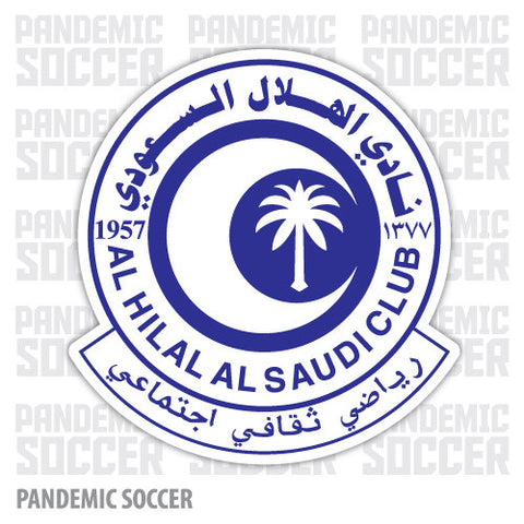 Al Hilal Saudi Arabia Vinyl Sticker Decal Soccer - Pandemic Soccer