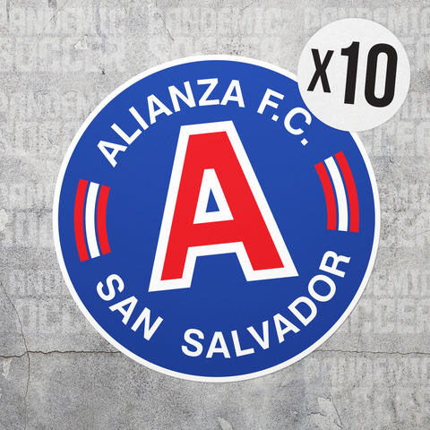 Alianza FC El Salvador Vinyl Sticker Decal Pack - 10 Stickers - Pandemic Soccer