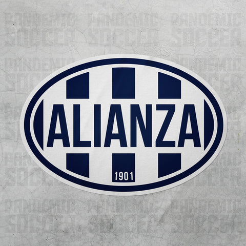 Alianza Lima Peru Oval Vinyl Sticker Calcomania - Pandemic Soccer