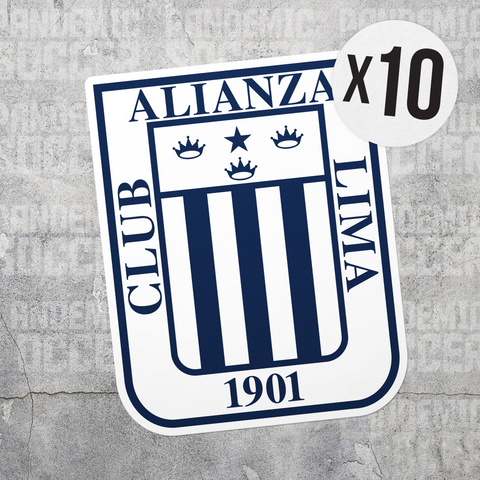 Alianza Lima Peru Vinyl Sticker Decal Pack - 10 Stickers - Pandemic Soccer