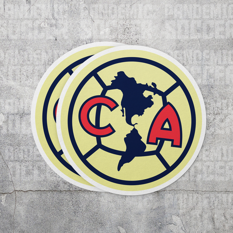 Club America Aguilas Mexico Vinyl Stickers - 2 Stickers - Pandemic Soccer