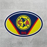 Club America Mexico Oval Vinyl Sticker Calcomania - Pandemic Soccer