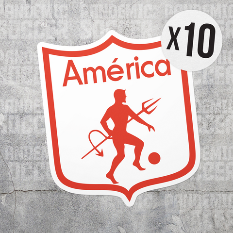 America de Cali Colombia Vinyl Sticker Decal Pack - 10 Stickers - Pandemic Soccer
