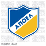 APOEL FC Nicosia Cyprus Color Vinyl Sticker Decal - Pandemic Soccer
