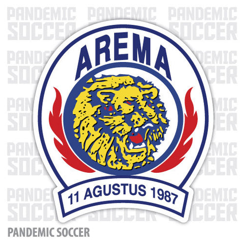 Arema Malang Indonesia Vinyl Sticker Decal Soccer - Pandemic Soccer