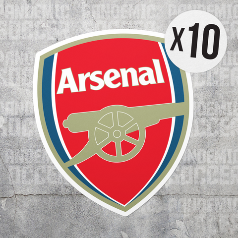 Arsenal FC Gunners England Vinyl Sticker Decal Pack - 10 Stickers - Pandemic Soccer