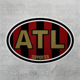 Atlanta United USA Oval Vinyl Sticker - Pandemic Soccer