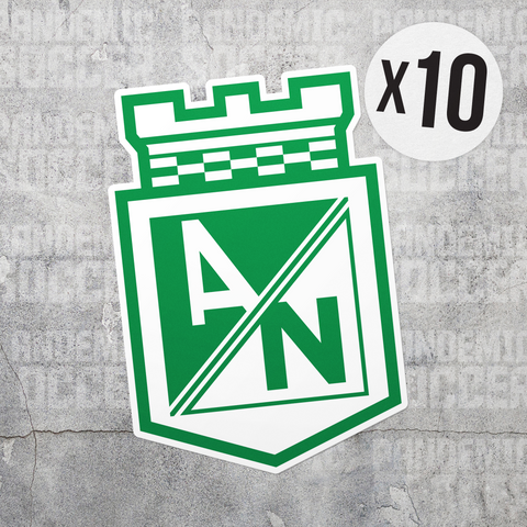 Atletico Nacional Medellin Colombia Vinyl Sticker Decal Pack - 10 Stickers - Pandemic Soccer